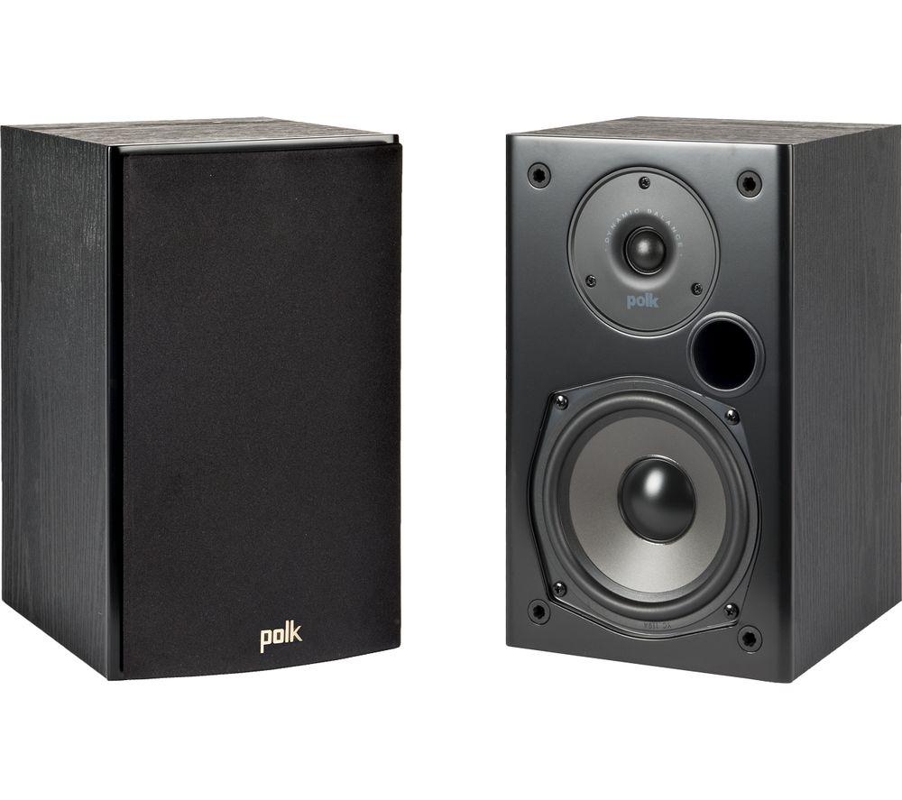 Image of DENON T15 2.0 Bookshelf Speakers - Black, Black