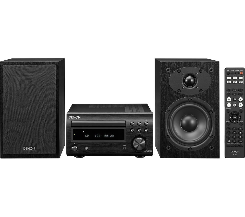 DENON DM-41DAB Wireless Traditional Hi-Fi System - Black
