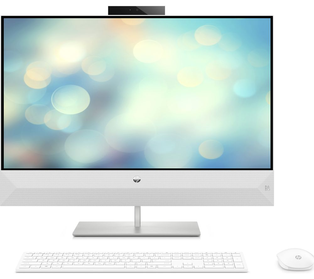 """HP Pavilion 27-xa0037na 27"""" Intel® Core™ i7 All-in-One PC - 2 TB HDD & 256 GB SSD, White"""