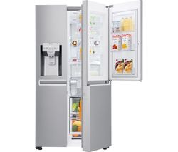 GSJ961NSVV American-Style Smart Fridge Freezer - Steel