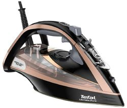 TEFAL Ultimate Pure FV9845 Steam Iron - Black & Rose Gold