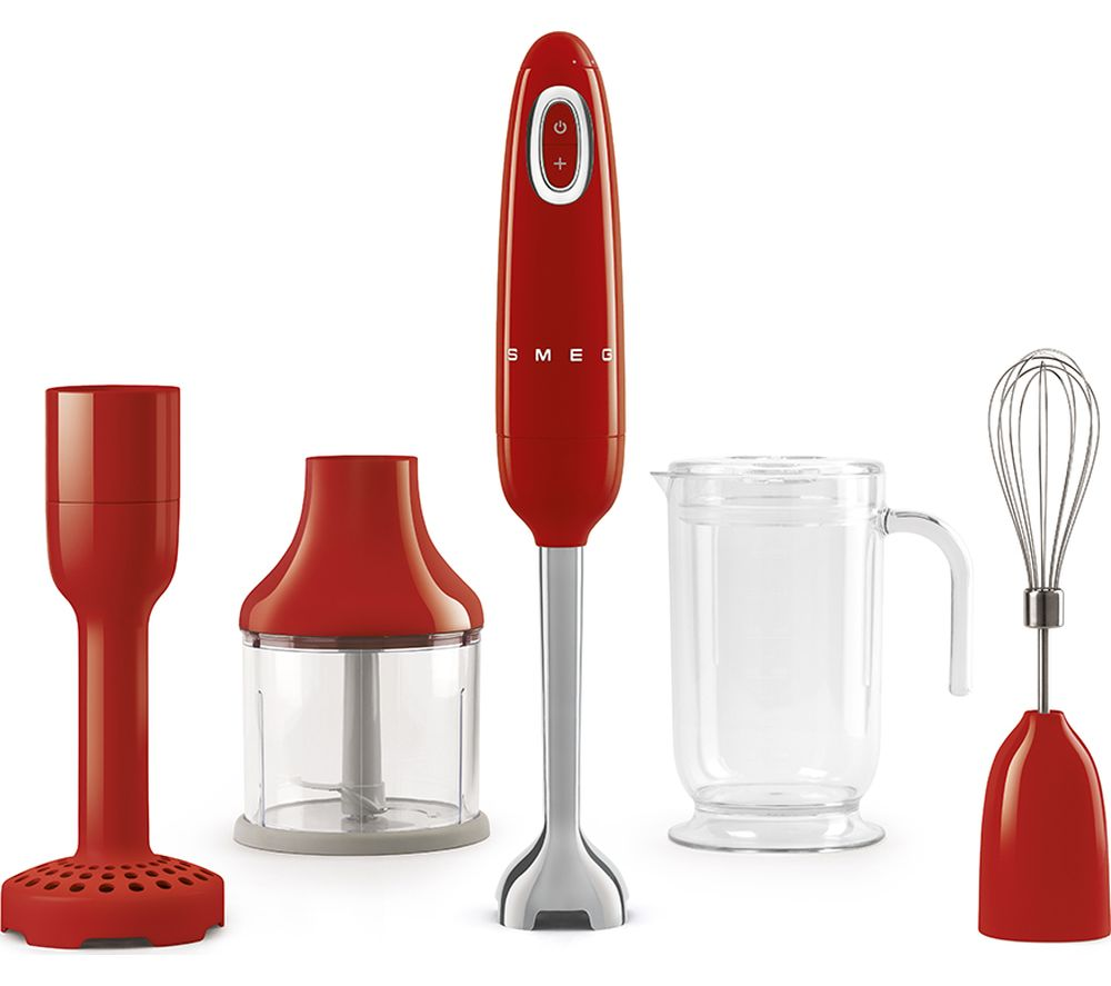 50s Retro Style HBF02RDUK Hand Blender - Red, Red