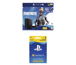 SONY PlayStation 4 Pro with Fortnite Neo Versa & PlayStation Plus 3 Month Subscription Bundle - 1 TB