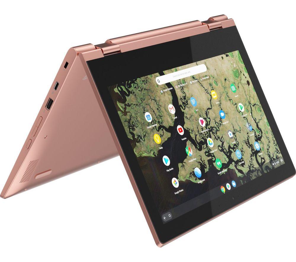 "LENOVO C340-11 11.6"" Intel® Celeron™ 2 in 1 Chromebook - 32 GB eMMC, Pink"