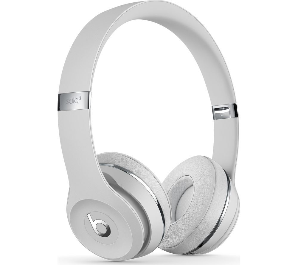 BEATS Solo 3 Wireless Bluetooth Headphones - Satin Silver, Silver