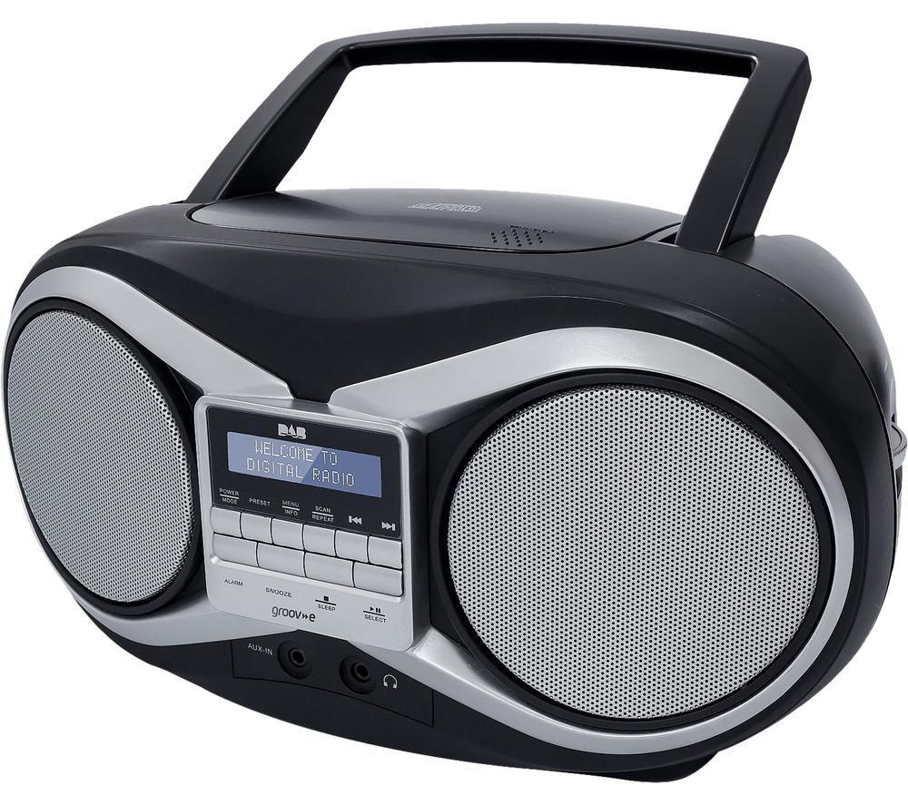 GV-PS753 Portable DAB/FM Boombox - Black, Black
