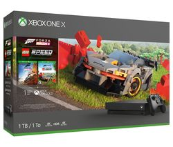 MICROSOFT Xbox One X with Forza Horizon 4 & LEGO Speed Champions