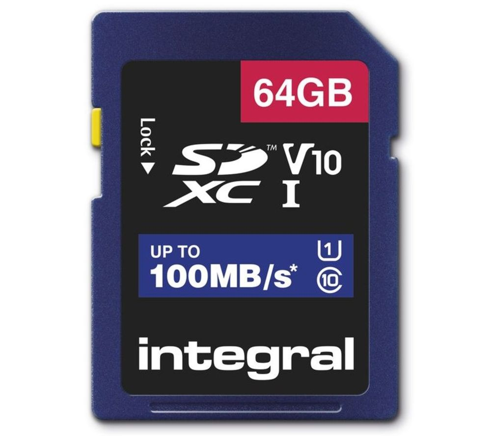 INTEGRAL V10 Class 10 SD Memory Card - 64 GB