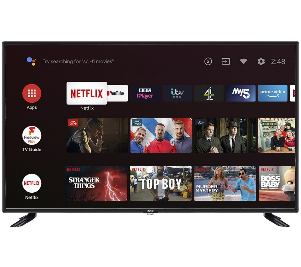 "LOGIK L43AFE20 Android TV 43"" Smart Full HD LED TV with Google Assistant"