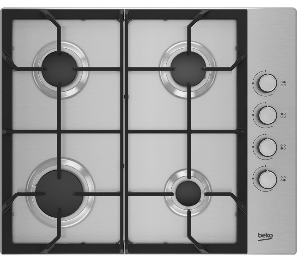 Image of BEKO HIBG64125SX Gas Hob - Stainless Steel, Stainless Steel