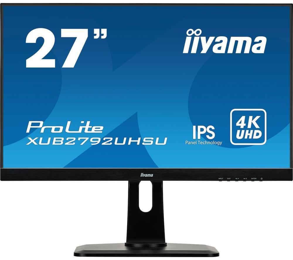 "IIYAMA ProLite XUB2792UHSU-B1 4K Ultra HD 27"" IPS LCD Monitor - Black"