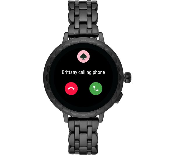 Buy KATE SPADE Scallop 2 KST2013 Smartwatch - Black, Stainless Steel Strap,  42 mm | Free Delivery | Currys