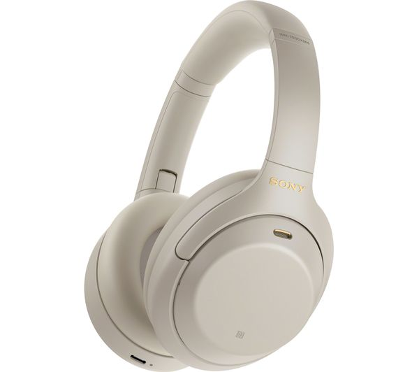 Image of SONY WH-1000XM4 Wireless Bluetooth Noise-Cancelling Headphones - Silver