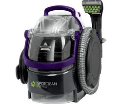 Image of BISSELL SpotClean Pet Pro 1558E Cylinder Carpet Cleaner - Titanium