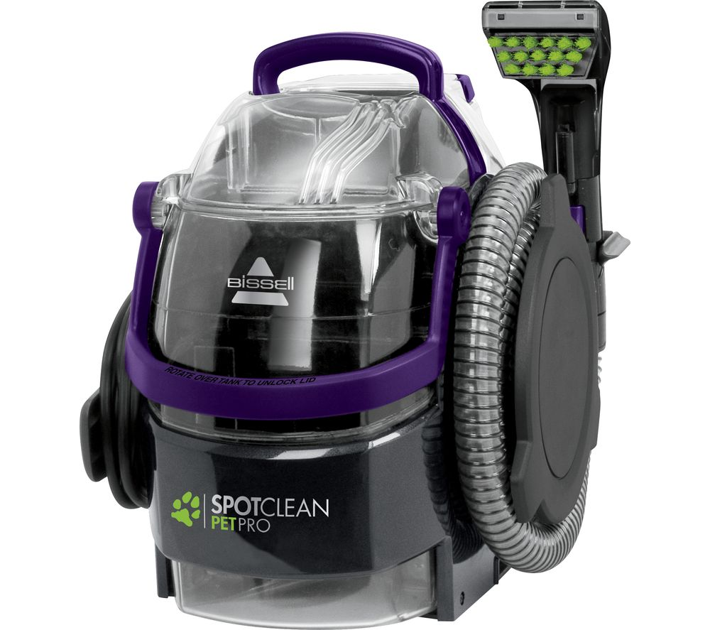 BISSELL SpotClean Pet Pro 1558E Cylinder Carpet Cleaner - Titanium
