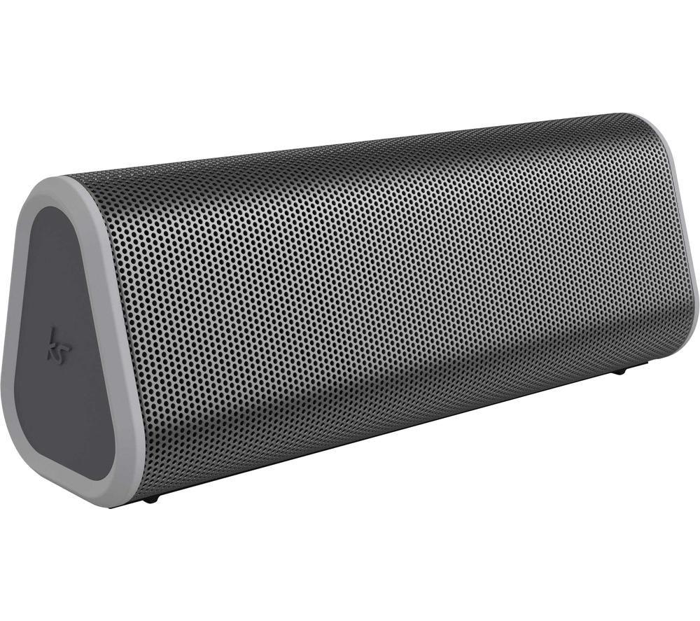 KITSOUND BoomBar 50 Portable Bluetooth Speaker - Grey, Grey