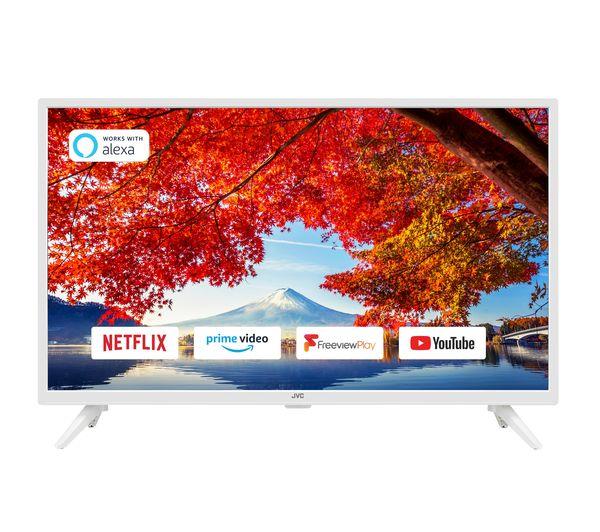 "Image of 32"" JVC LT-32C601 Smart HD Ready HDR LED TV - White, White"