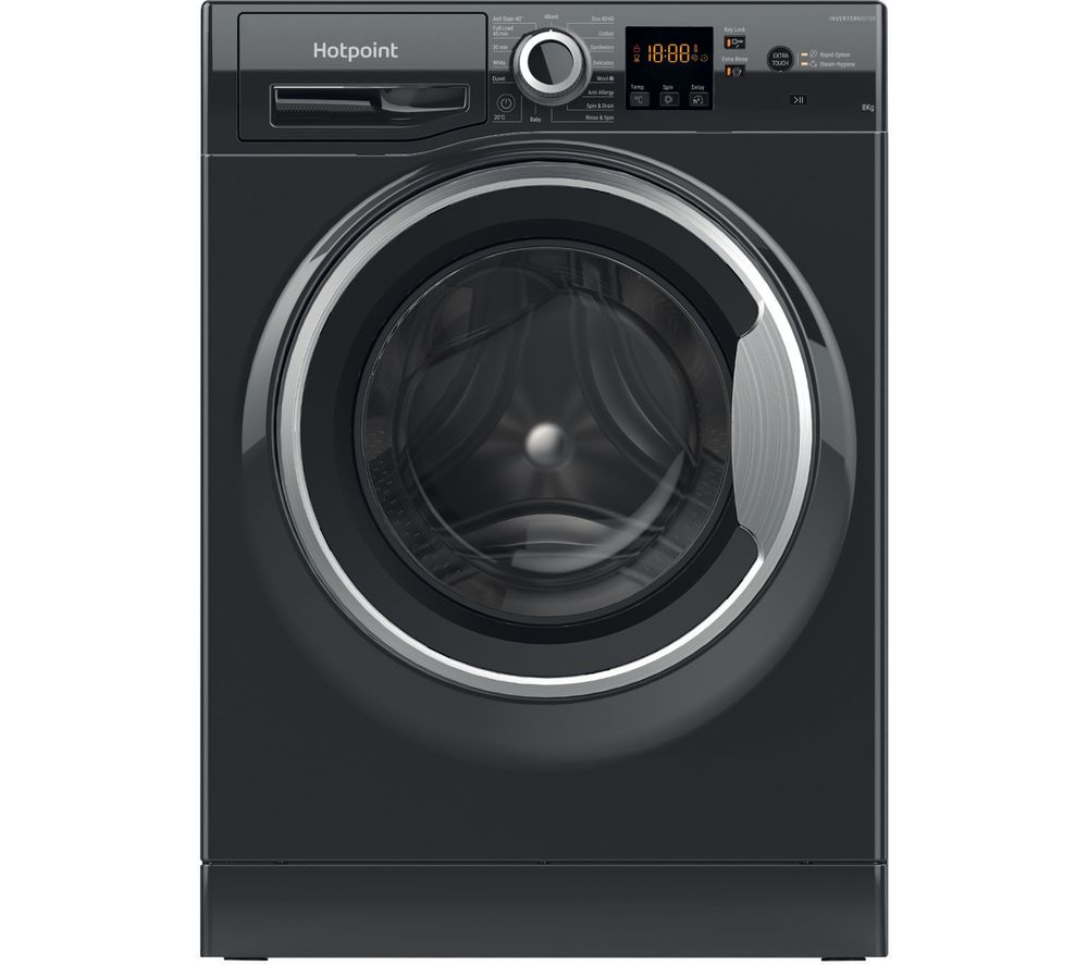 HOTPOINT Core NSWR 843C BS UK N 8 kg 1400 Spin Washing Machine – Black