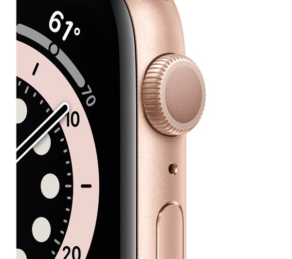Buy Apple Watch Series 6 Gold Aluminium With Pink Sand Sports Band 44 Mm Free Delivery Currys