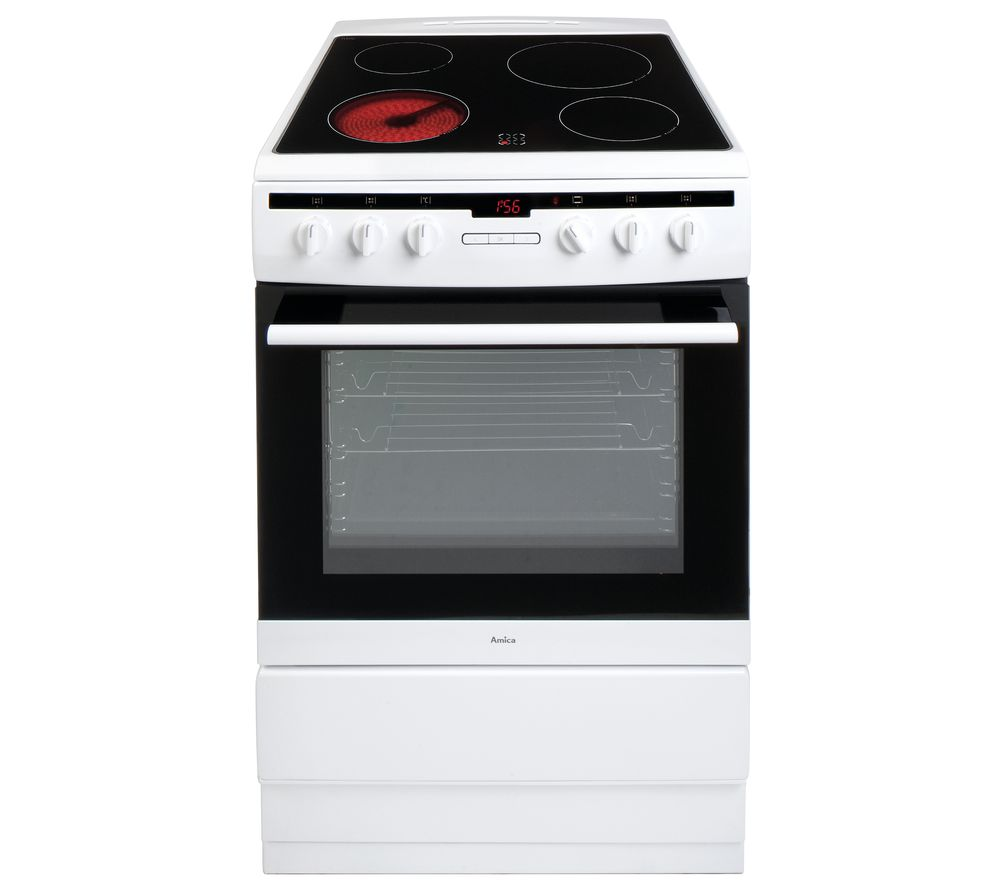 AMICA 608CE2TAW 60 cm Electric Ceramic Cooker - White