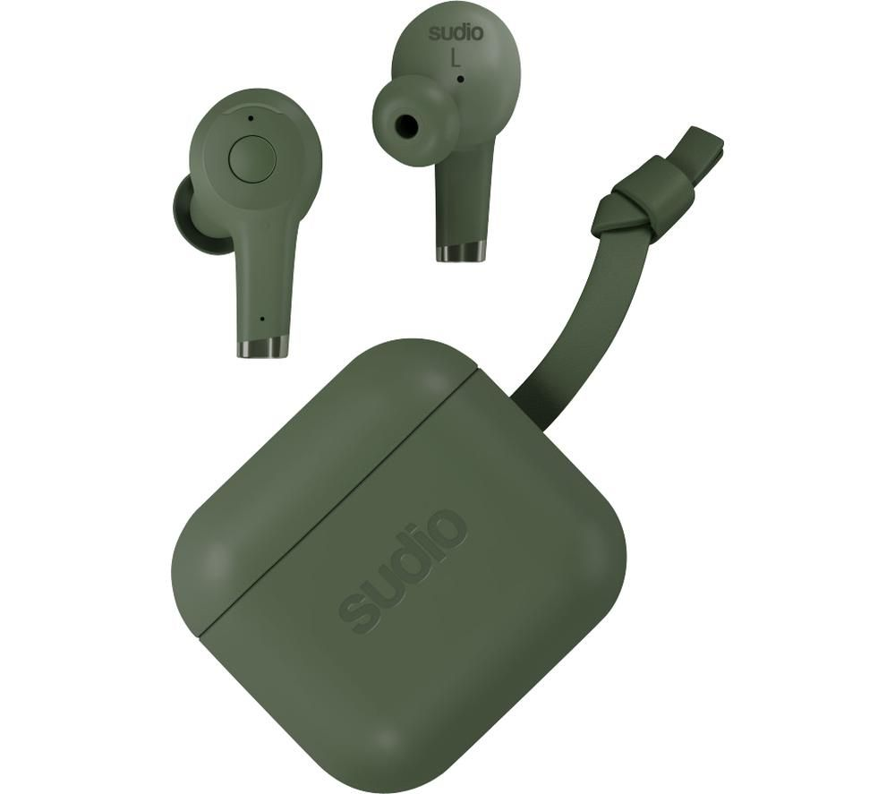 SUDIO ETT Wireless Bluetooth Noise-Cancelling Earphones - Green, Green