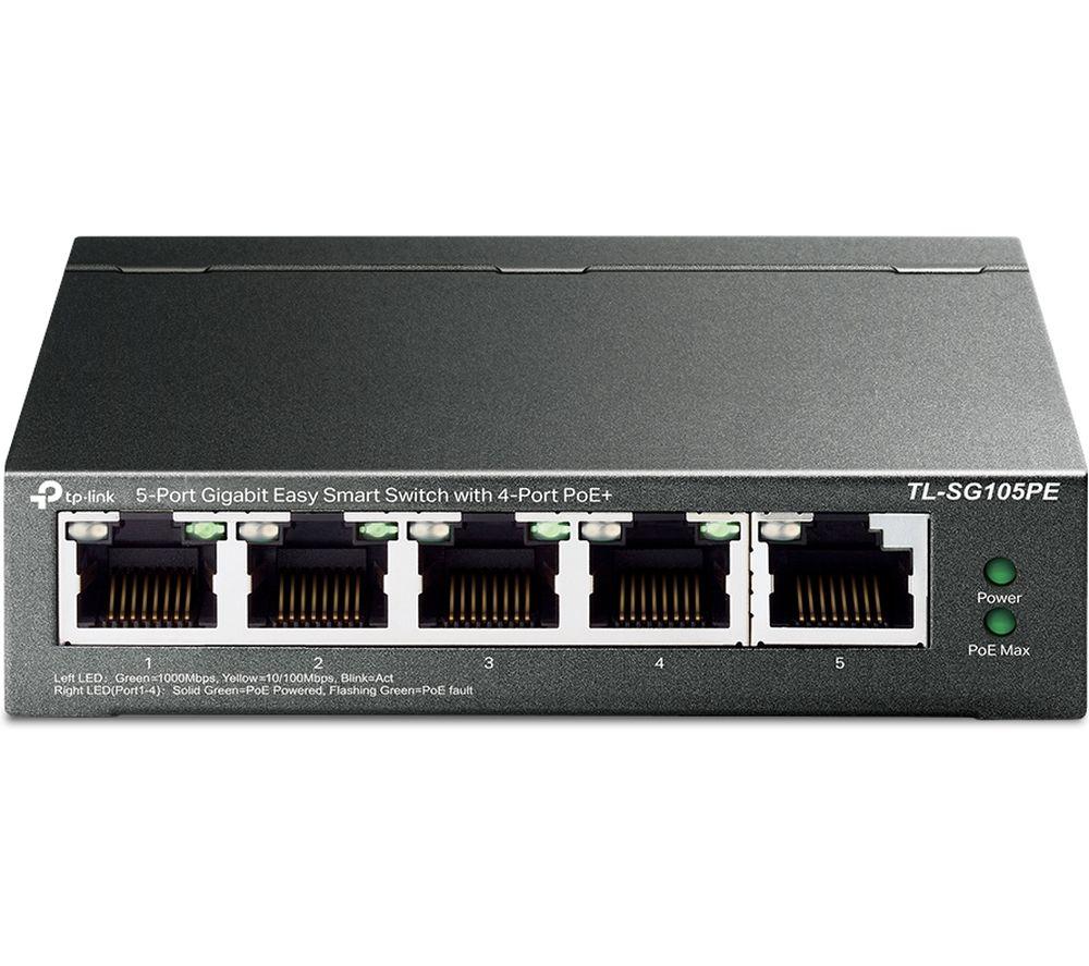 TP-LINK TL-SG105PE Easy Smart Managed Network Switch - 5 port