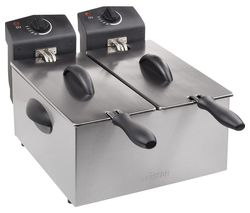 FR-6937 Double Deep Fryer - Silver