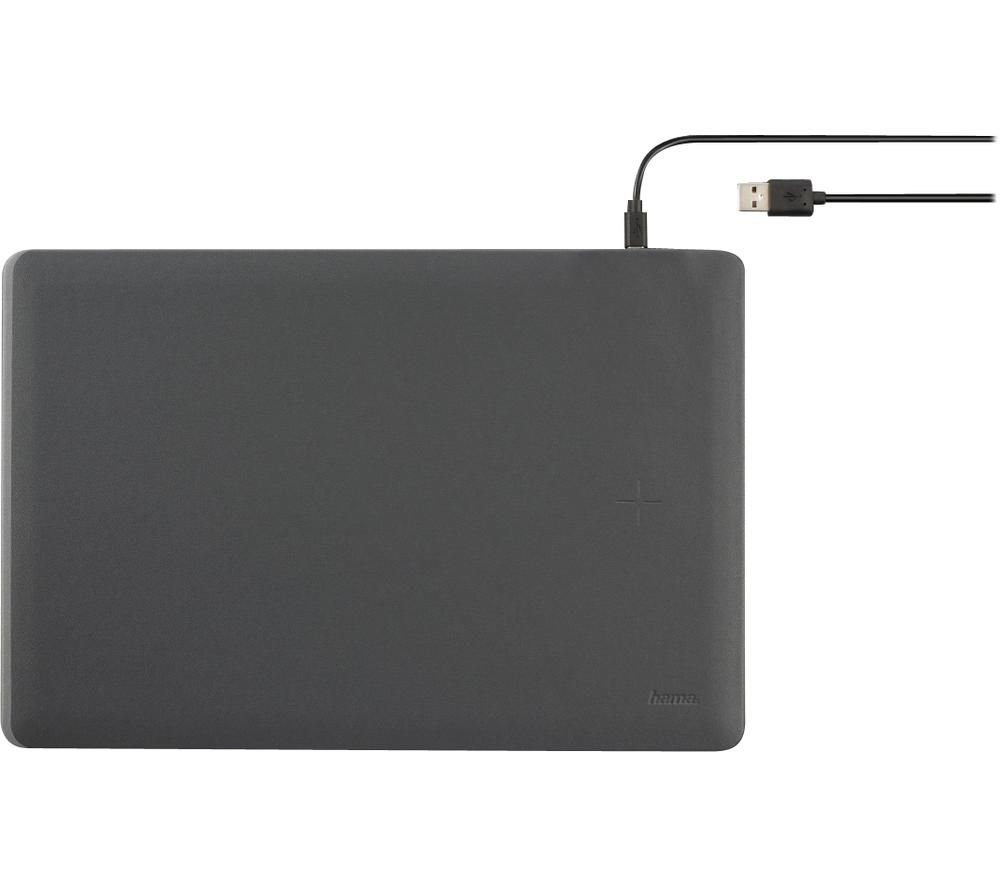 Image of HAMA Wireless Charging Mouse Mat - Anthracite, Anthracite
