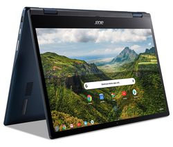 "Spin 513 LTE 13.3"" 2 in 1 Chromebook - Qualcomm SC7180, 128 GB eMMC, Blue"