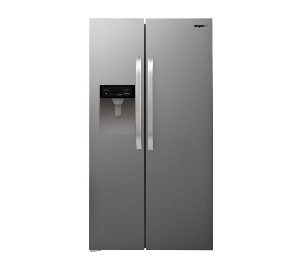 Hotpoint American Side-by-side Fridge Freezer With Ice & Water Dispenser - Stainless Steel Doors
