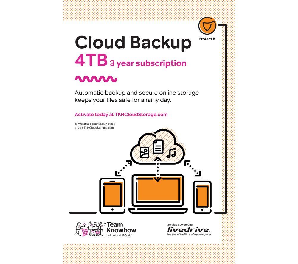 KNOWHOW Cloud Backup - 4 TB, 3 years