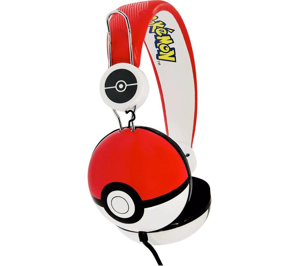 OTL PK0445 Pokémon Kids Headphones - Red & White
