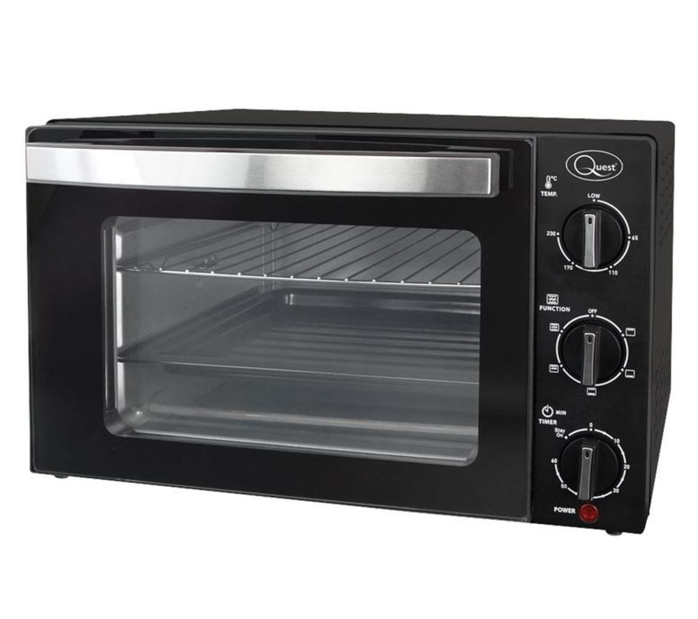 QUEST 35399 Rotisserie Mini Oven - Black, Black