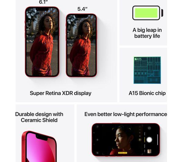 Apple iPhone 13 mini - 128 GB, (PRODUCT)RED 6