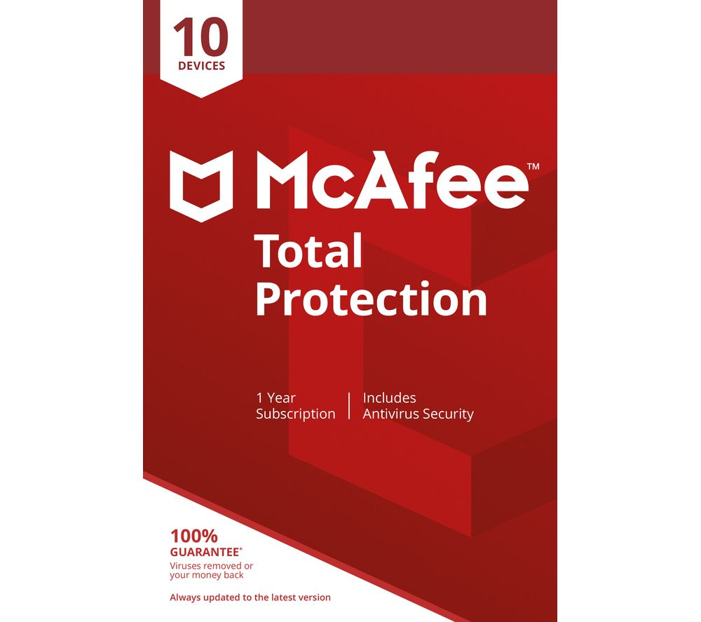 Image of MCAFEE Total Protection - 1 year for 10 devices