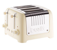 DUALIT DL4C 4-Slice Toaster - Cream