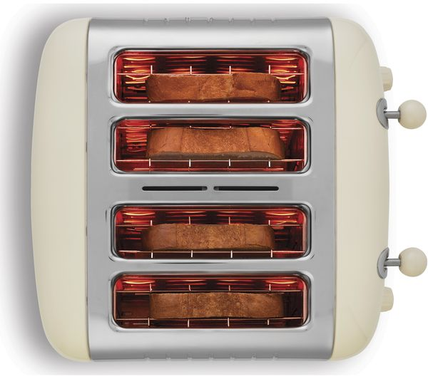 Buy DUALIT DL4C 4 Slice Toaster Cream Free Delivery