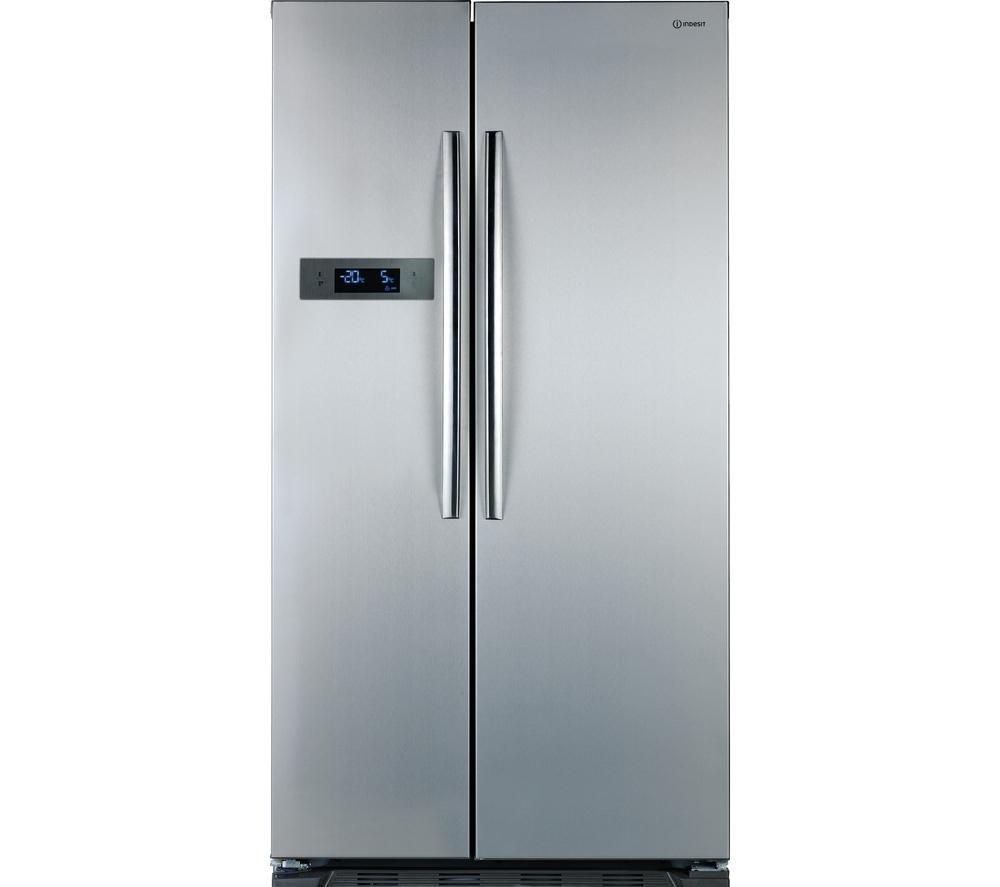 INDESIT SBSAA530SD American Style Fridge Freezer - Silver