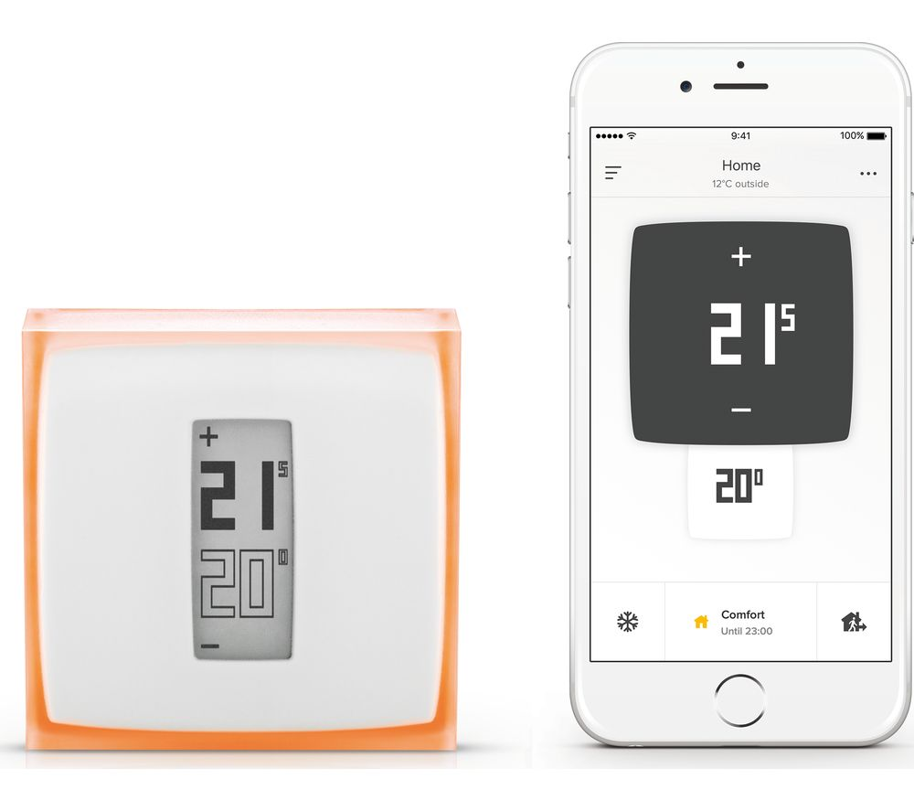 buy netatmo thermostat for smartphone free delivery currys. Black Bedroom Furniture Sets. Home Design Ideas