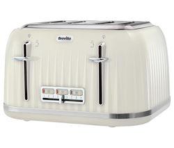 Impressions VTT702 4-Slice Toaster - Vanilla Cream