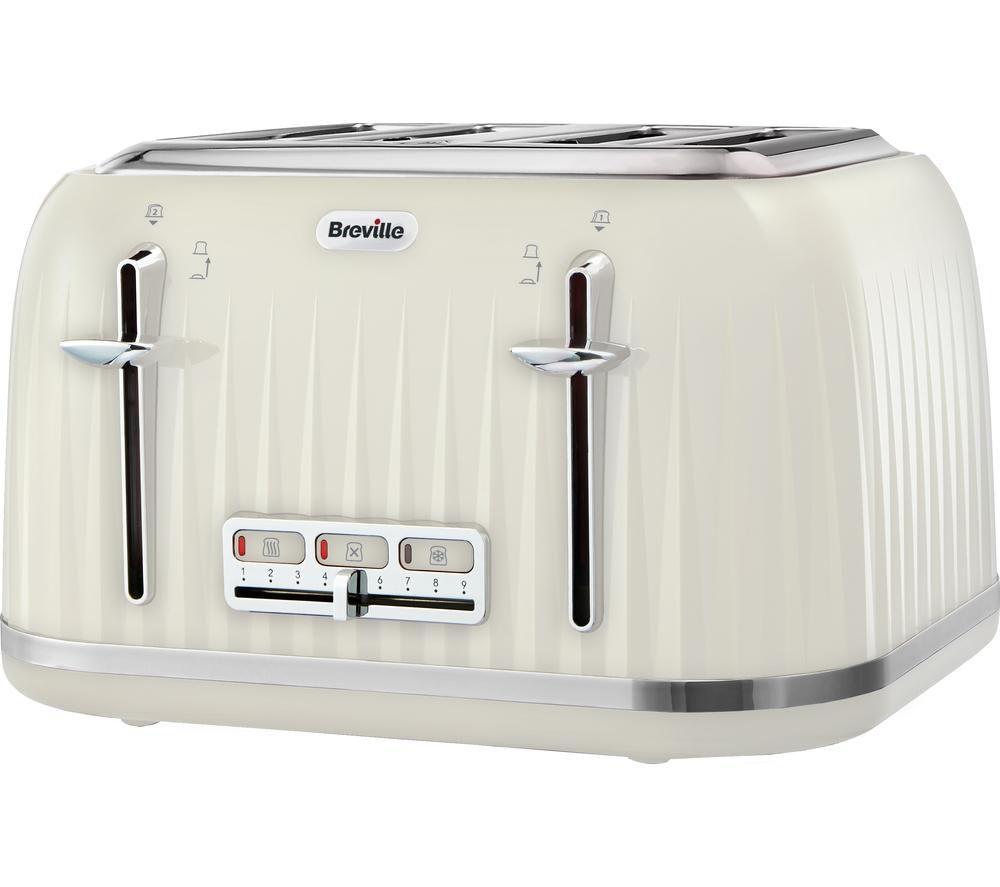 BREVILLE Impressions VTT702 4-Slice Toaster - Vanilla Cream