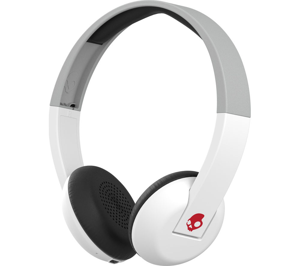 buy skullcandy uproar s5urhw 457 wireless bluetooth headphones white grey red free. Black Bedroom Furniture Sets. Home Design Ideas