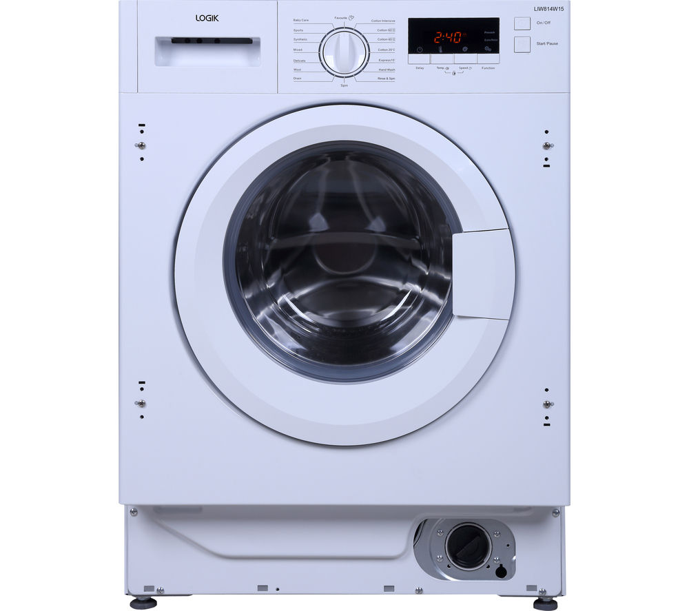 LOGIK LIW814W15 Integrated Washing Machine - White, White