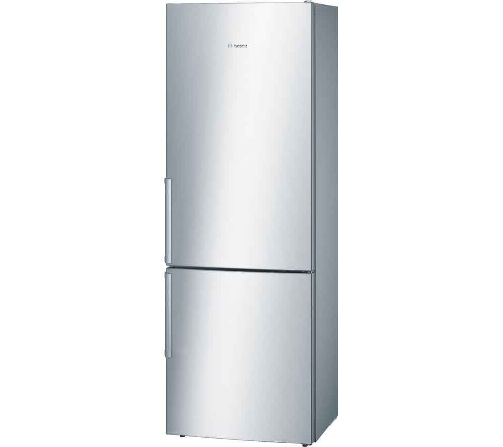 Image of BOSCH Serie 6 KGE49BI30G Fridge Freezer - Silver, Silver