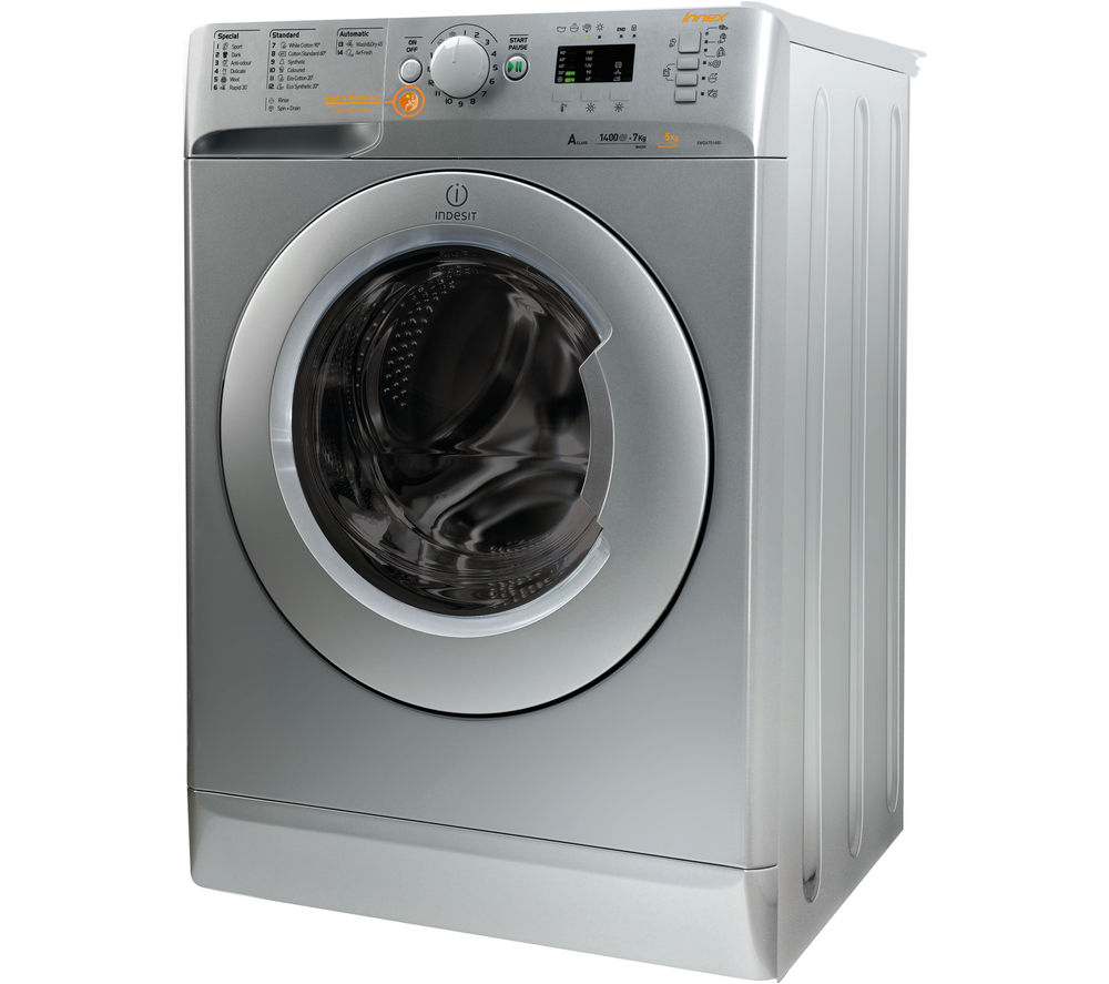 INDESIT Innex XWDE751480XS Washer Dryer - Silver