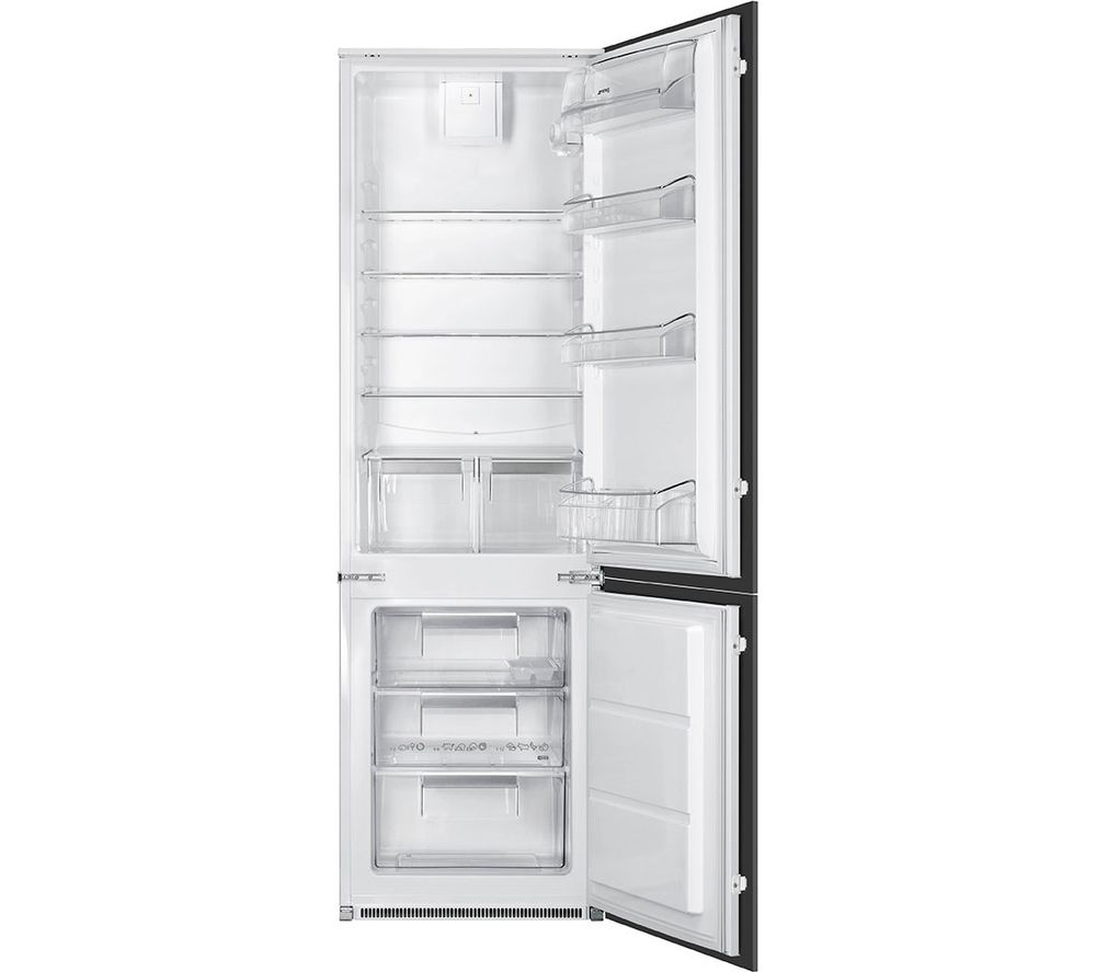 Image of SMEG UKC7280FP Integrated Fridge Freezer - White, White