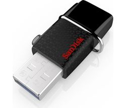 SANDISK Ultra Dual USB 3.0 Dual Memory Stick - 128 GB, Black
