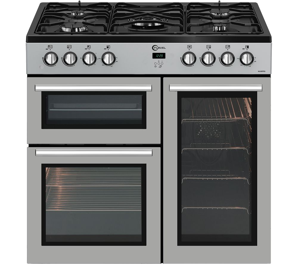 Black And Silver Kitchen Appliances: Buy FLAVEL MLN9FRS 90 Cm Dual Fuel Range Cooker