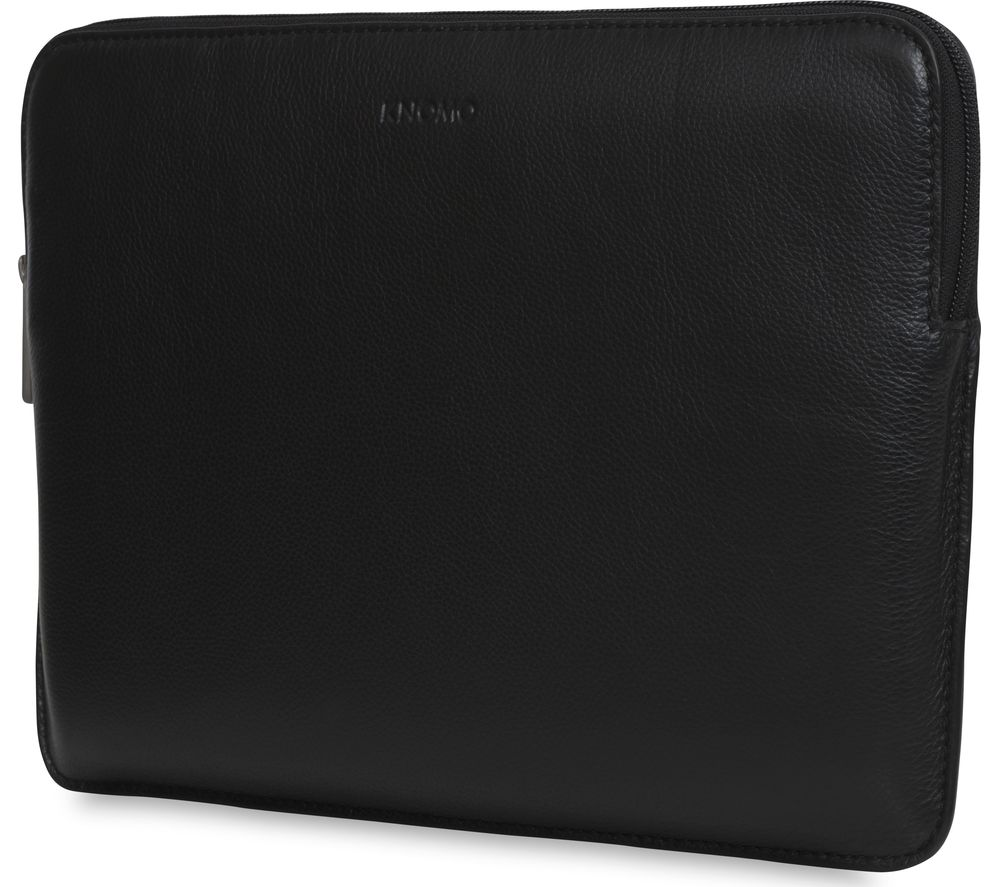 "KNOMO 45-101-BLK 13"" Leather Laptop Sleeve - Black"