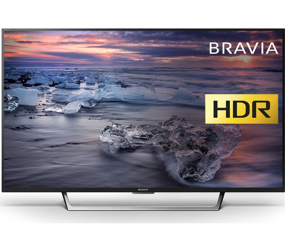 "SONY BRAVIA KDL49WE753 49"" Smart HDR LED TV + SFLEZ14 Medium to Large Fixed TV Bracket"